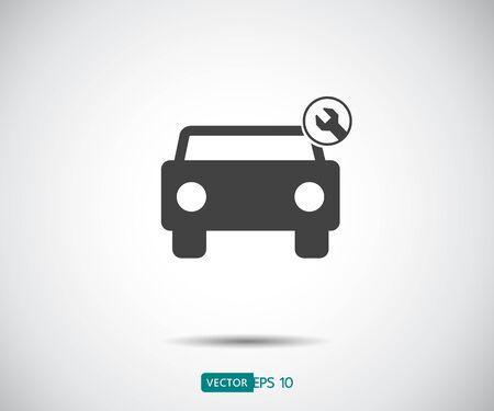 Car service icon, Auto Repair, Flat Maintenance logo design Vector illustration Stock Illustratie