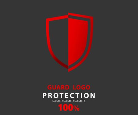 logo security company. vector emerald shield for protection, vector illustration
