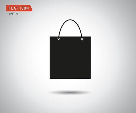 paper shopping bag vector icon illustration, online shop, sale logo Ilustrace