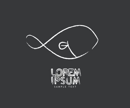 fish logo design modern vector background