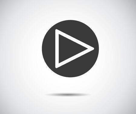 play button icon, flat logo app vector illustration