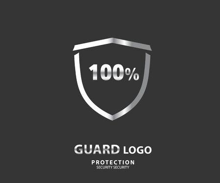 Logo Sicherheitsunternehmen. Vektorschild zum Schutz, Illustration Logo