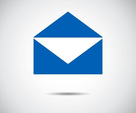 Envelope Mail icon Flat design style, vector illustration
