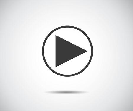 play button icon, flat logo app vector illustration.