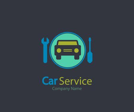 Car logo service icon, Auto Repair, Flat Maintenance logo design Vector illustration