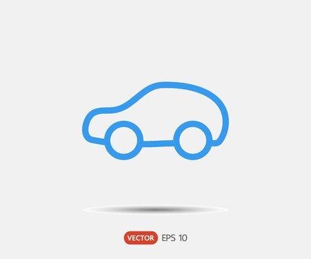 Pictograma de coche, logo ilustración vectorial