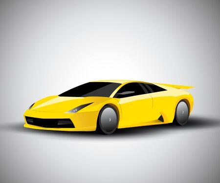 Realistic sport car vector illustration