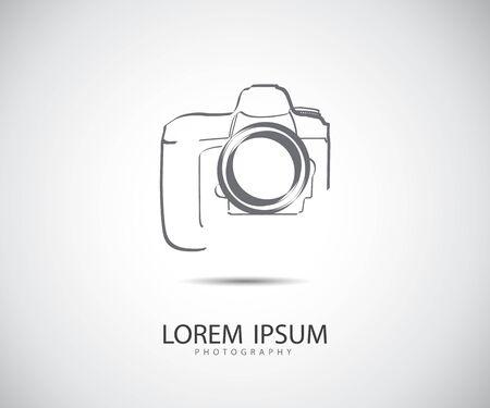 Ilustración de vector de icono de cámara