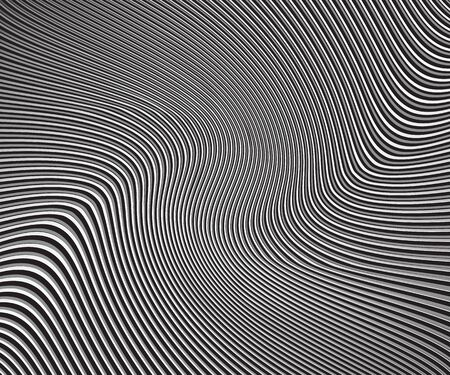 curved lines monochrome halftone black and white geometric pattern. vector background thin stripes