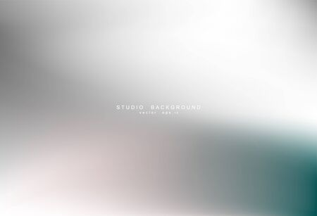 Gradient gray abstract background. Blurred smooth gray color, bright light effect holographic, silver graphic soft design wallpaper, vector illustration
