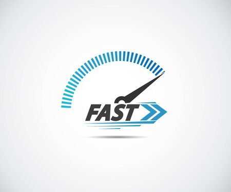 Speed, vector logo racing event, with the main elements of the modification speedometer 向量圖像