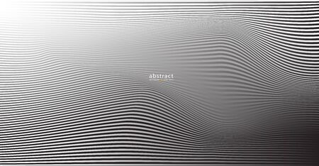 Abstract  grey white waves and lines pattern for your ideas, template background texture Çizim