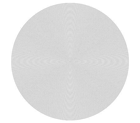 Concentric circle element. Black and white color ring. Abstract  vector illustration for sound wave, Monochrome graphic.