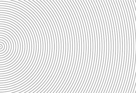 Abstract vector circle halftone black background. Gradient retro line pattern design. Monochrome graphic.