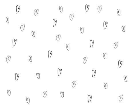 Vector Heart shape frame with brush painting isolated on white background - hand drawn design for Valentine's day web icon, symbol, sign, romantic wedding, love card
