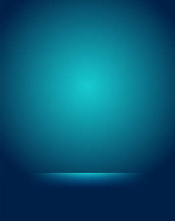 Empty blue studio room Backdrop. Light interior with copyspace for your creative project . Vector illustration Çizim