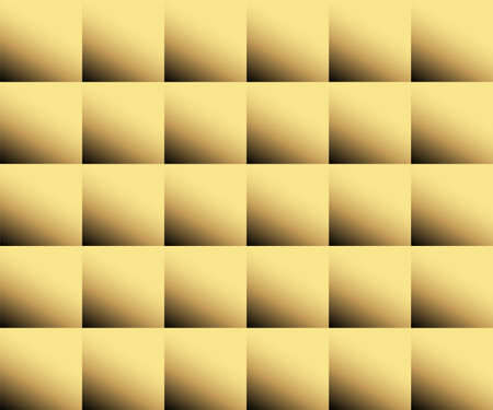 Gold color abstract squares background, web design, greeting card, Happy New Year and christmas background, vector illustration Çizim
