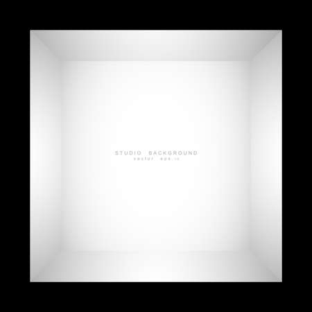 Empty white grey gradient studio room background. backdrop light interior with copyspace for your creative project, Vector illustration EPS 10