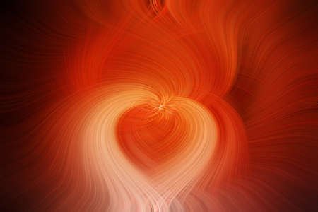 swirl design  fine art bright orange shape of a heart Imagens