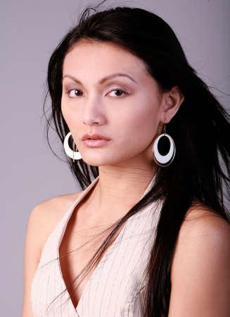 髪の毛の美しいアジアの女性 写真素材