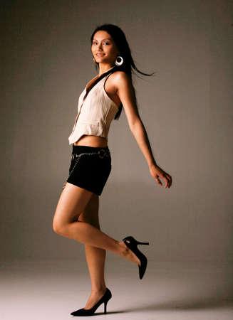 Beautiful Asian Woman in Casual Fashion