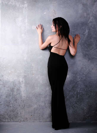 Asian Woman in Formal Fashion from Behind
