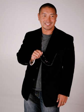 Asian Man in Casual Fashion Stock fotó