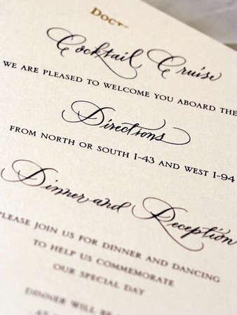 Detail Shots of Wedding Stationary Standard-Bild