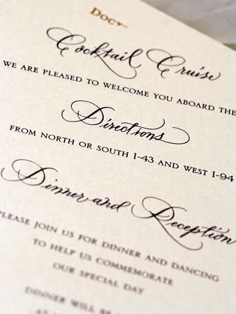 Detail Shots of Wedding Stationary Stock fotó