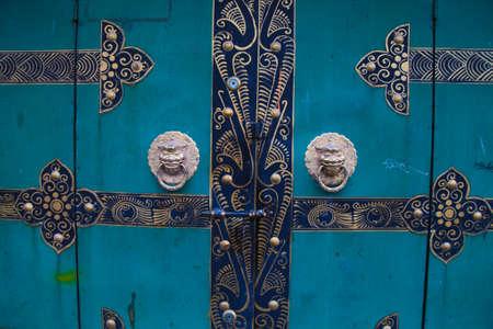 knocker: beautiful antique oriental door knocker