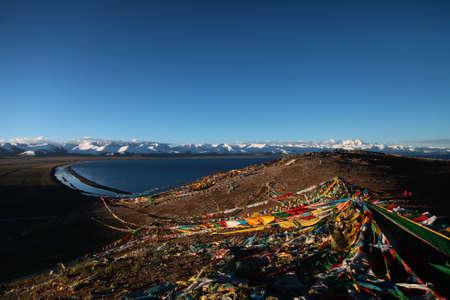 buddism: Lake Namtso and pray streamer
