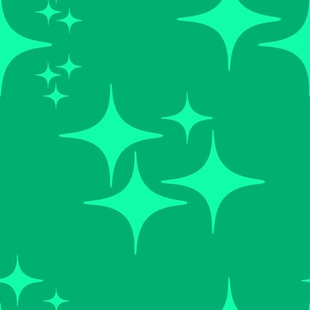 Teal star pattern.
