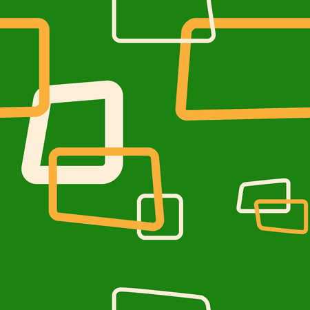 Green Rectangle Vector Repeat Pattern  イラスト・ベクター素材