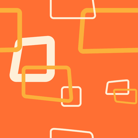 Orange Rectangle Vector Repeat Pattern Ilustrace