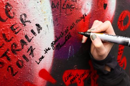 Writing on Peace wall, Belfast