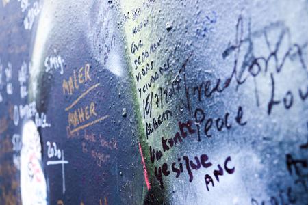 Graffiti on Peace Wall Northern Ireland Stock Photo