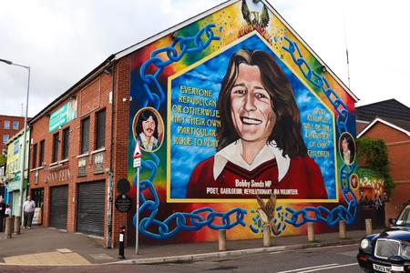 Bobby Sands Mural Ireland Stock Photo - 86160204