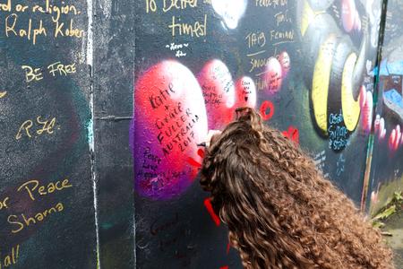 Peace Wall Graffiti Stock Photo