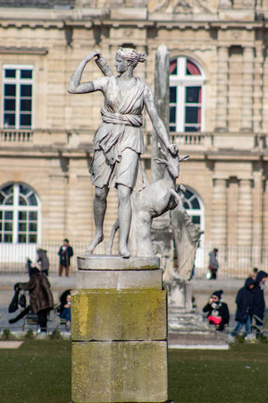 Frolic with Goat Statue, Paris France Stockfoto
