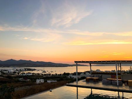 Sunset in Pollonia, Milos, Greece