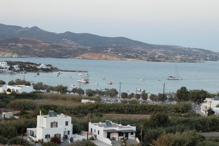 Boats in harbor at Pollonia, Milos, Greece