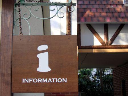 information sign of a information centre Stok Fotoğraf