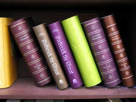 academia: Antique books on bookshelf