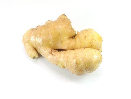 lemony: Ginger in isolated background Stock Photo