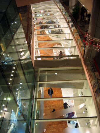 Shopping mall interior with glass Stock Photo - 587875