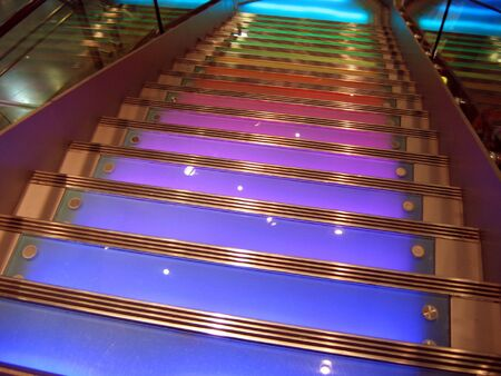 Stairs with colorful lighting Stock Photo - 587864