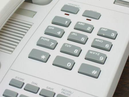 Telephone keypad close up photo