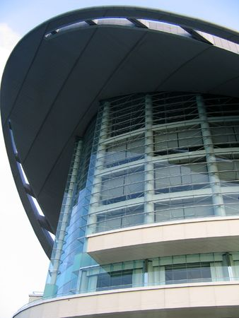 Architecture structure of Hong Kong Convention and Exhibition Centre photo