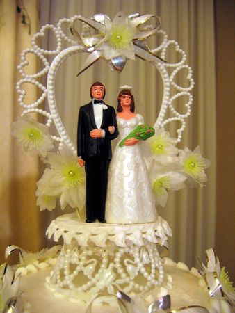 topper: a wedding cake topper