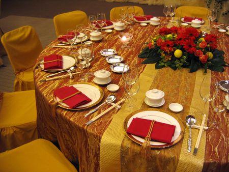 mesa para banquetes: Chino banquete de bodas mesa